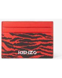 KENZO Leder-Kartenetui - Rot