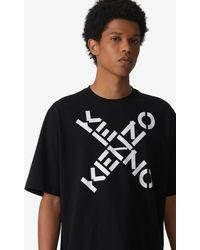 KENZO T-Shirt Sport 'Big X' - Schwarz