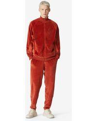 KENZO Oversized Velvet Track Jacket - Red