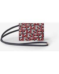 KENZO - Porte-cartes à bandoulière monogramme en cuir - Lyst