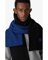 KENZO Écharpe en laine - Bleu