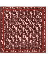 KENZO Monogrammed Silk Bandana - Red