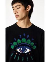 KENZO Sweatshirt Eye-Logo - Schwarz