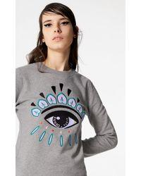 KENZO Embroidered Eye Sweatshirt - Grey