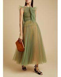 Khaite The Paige Dress - Green