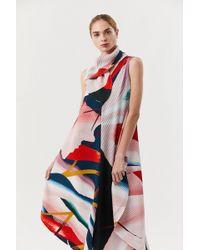 Issey Miyake - Long Print Dress - Lyst