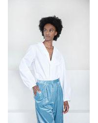 Christian Wijnants - Tonga V-neck Cotton Shirt - Lyst