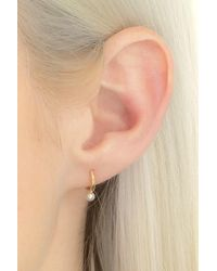Hirotaka Pearl Hoop Earring - Metallic