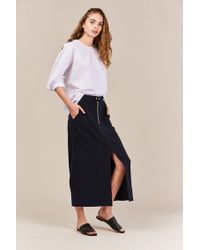 Nomia - Long Work Skirt - Lyst