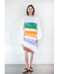 Dries Van Noten Dartely Brushstroke Dress - Multicolor
