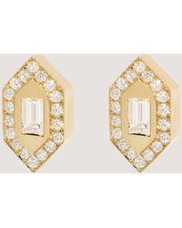 Azlee - N/s Diamond Stud Earrings - Lyst