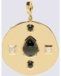 Azlee Modern Byzantine Large Coin Charm - Metallic