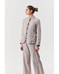 Pas De Calais Stripe Linen Jacket - Multicolor