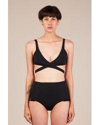 Shaina Mote Sargasso Bikini Top - Black