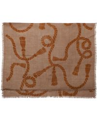 Lizzie Fortunato Large Heritage Rope Scarf - Brown