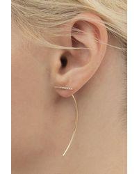 Hirotaka Diamond Bar Arrow Earring (left) - Multicolor