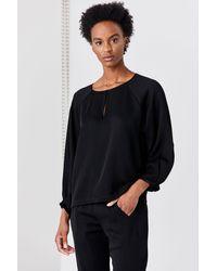 Zero + Maria Cornejo Long Sleeve Luca Shirt - Black