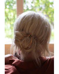 Gabriela Artigas Gold Lunula Hair Bun - Metallic
