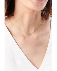 Scosha Cloud Bar Necklace - Metallic