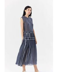 Sara Lanzi Longuette Dress - Blue