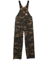 2ececf6a938c9 Carhartt WIP Bib Canvas Overall in Black for Men - Save 53% - Lyst