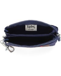 Kipling Small Purse With Keychain - Blue