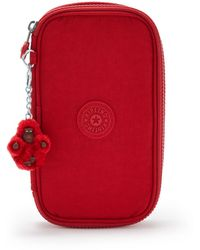 Kipling Medium Pencase Holds Up To 50 Pens - Red