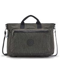 Kipling Medium Handbag With Laptop Compartment - Black