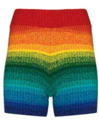 Elder Statesman Morph Stripe Bike Shorts - Multicolor