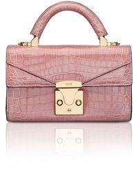 Stalvey Mini Embossed Pattern Top Handle - Pink