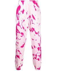 Elder Statesman Hot Cc Printed Cotton Sweatpant - Pink