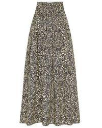 Matteau High Waisted Shirred Skirt - Black