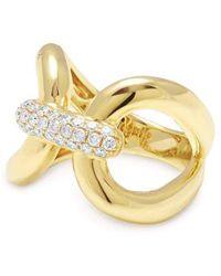 Anne Sisteron Interlock Ring - Metallic