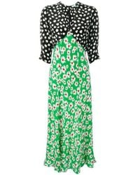 RIXO London - Martha Mix Floral Midi Dress - Lyst