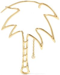Yvonne Léon - Palm Tree 18k Gold Diamond Single Earring - Lyst
