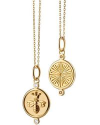 "Monica Rich Kosann ""queen Bee"" Diamond Charm Necklace - Metallic"