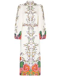 Zimmermann Lovestruck Button Down Midi Dress - Multicolour