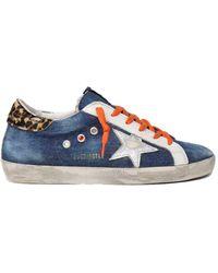 Golden Goose Deluxe Brand Superstar Denim Leo Sneaker - Blue