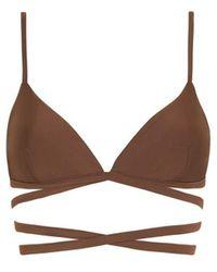 Matteau Wrap Triangle Bikini - Brown