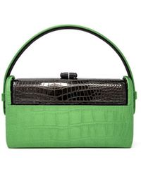 Bienen-Davis Régine Gunmetal Top Handle Bag - Green
