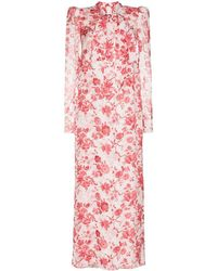The Vampire's Wife Unconditional Floral Print Dress - Red
