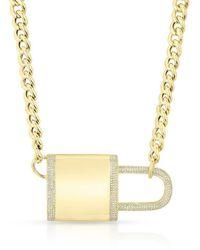 Anne Sisteron Dia Lovelock Necklace - Metallic