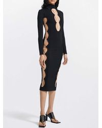 Dion Lee Cut Out Side Panel Bodycon Dress - Black