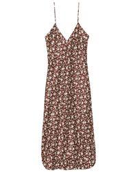 Nili Lotan Cami Floral Print Midi Dress - Brown