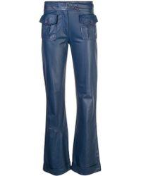 Kirna Zabete Nola Leather Front Pocket Pant - Blue