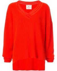 By. Bonnie Young - Oversized V-neck Sweater - Lyst