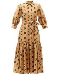 Borgo De Nor Estelle Puff Sleeve Dress - Multicolor