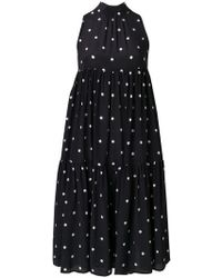 Beautiful Bottoms - Silk Crepe A-line Polka Dot Dress - Lyst