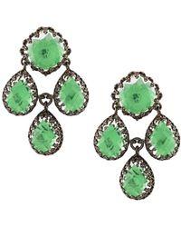 Larkspur & Hawk - Antoinette Girandole Earring - Green - Lyst