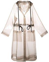 Proenza Schouler Pvc Long Clear Hooded Raincoat - Black